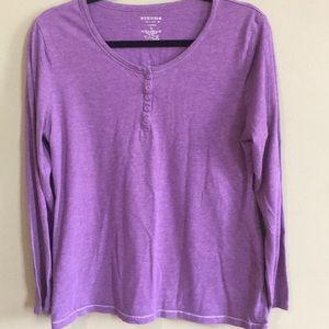 Sonoma Long Sleeve Purple Shirt